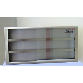 Ποτηριέρες - Ποτηροθήκες Τοίχου με Γυάλινες Συρόμενες Πόρτες -Βάθος 30 cm