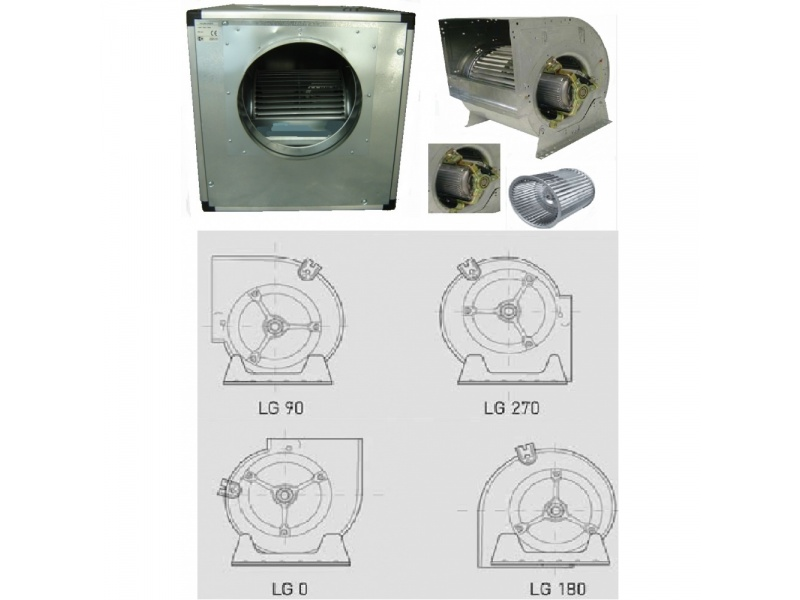 Low Pressure Centrifugal Fans in the Box Soundproof 1400 RPM 4 Pole
