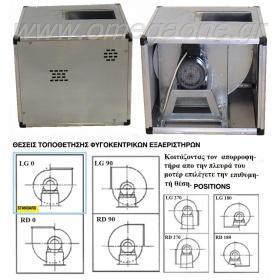 Απορροφητήρας Μονής Αναρρόφησης, Αραιά Φτερωτή, σε Ηχομονωμένο Κιβώτιο, 950 RPM 6 Pole