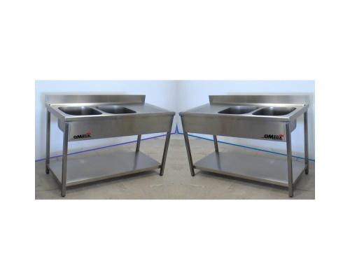 sp ltisch 2 becken mittig mit grundboden. Black Bedroom Furniture Sets. Home Design Ideas