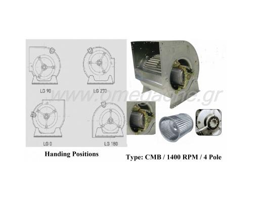 Απορροφητήρας Διπλής Αναρρόφησης Άμεσης Κίνησης 1.400 RPM 4 Πόλων