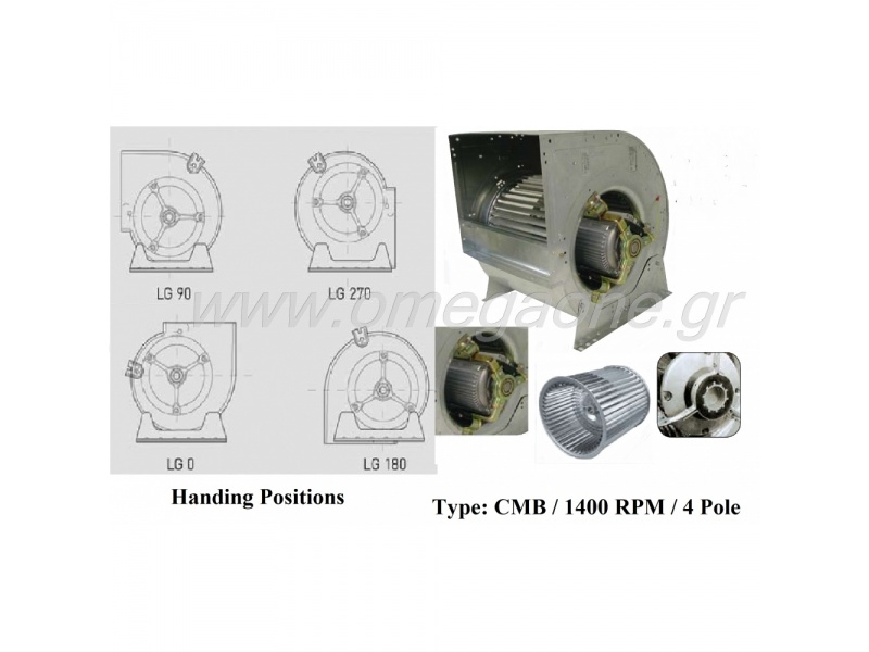 Low Pressure Centrifugal Fans 1400 RPM 4 Pole