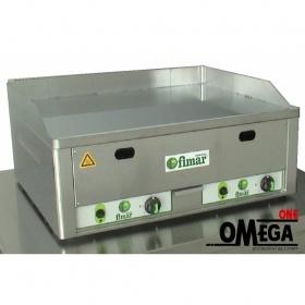Πλατώ Αερίου -Λεία Πλάκα Χρωμίου - 2 Ζώνες Θέρμανσης Fimar