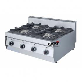 4 Εστίες Αερίου -Επιτραπέζια Κουζίνα GAS E400 Pilot