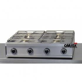 4 Εστίες Αερίου -Επιτραπέζια Κουζίνα με Θερμοκόπια & Πιλότο 474G