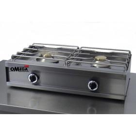 2 Εστίες Αερίου -Επιτραπέζια Κουζίνα με Πιλότο & Θερμοκόπια 252G