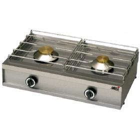 2 Εστίες Αερίου -Επιτραπέζια Κουζίνα με Πιλότο & Θερμοκόπια 272G