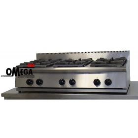 6 Εστίες Αερίου -Επιτραπέζια Κουζίνα  με Θερμοκόπια