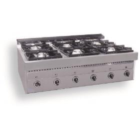 6 Εστίες Αερίου -Επιτραπέζια Κουζίνα GAS E6 Pilot