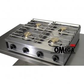 4 Εστίες Αερίου -Επιτραπέζια Κουζίνα με Θερμοκόπια & Πιλότο 494G85