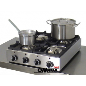 4 Εστίες Αερίου -Επιτραπέζια Κουζίνα GAS E24 Pilot
