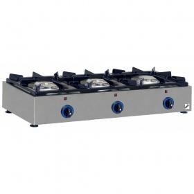 3 Εστίες Αερίου -Επιτραπέζια Κουζίνα GAS E23 Pilot