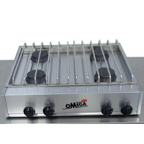 4 Εστίες Αερίου -Επιτραπέζια Κουζίνα με Θερμοκόπια 204VM