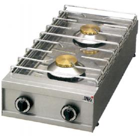 2 Εστίες Αερίου -Επιτραπέζια Κουζίνα με Πιλότο & Θερμοκόπια 292G