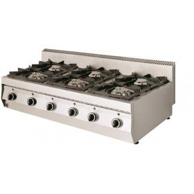 6 Εστίες Αερίου -Επιτραπέζια Κουζίνα GAS E600 Pilot