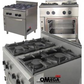 Κουζίνα Αερίου με Φούρνο Αερίου 4 Εστιών 204E