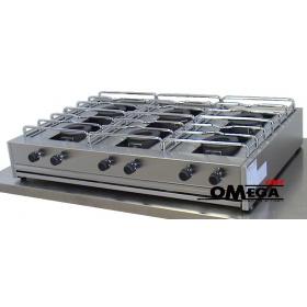6 Εστίες Αερίου -Επιτραπέζια Κουζίνα με Θερμοκόπια 206S
