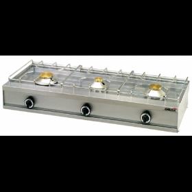 3 Εστίες Αερίου -Επιτραπέζια Κουζίνα με Θερμοκόπια & Πιλότο 353G