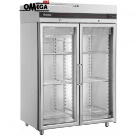 Ψυγείο Θάλαμος Συντήρηση με 2 Γυάλινες Πόρτες 1432 Ltr διαστ. 1440x905x2095 mm