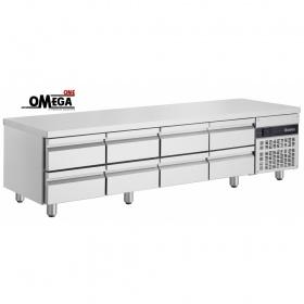 Ψυγείο Πάγκος Συντήρηση 8 Συρτάρια Χαμηλό σε ΄Υψος διαστ. 2240x700x620 mm PWN333
