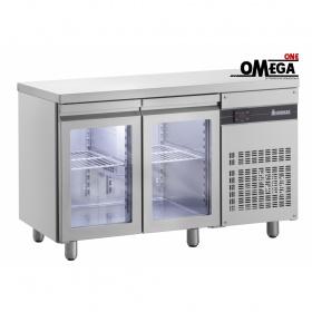 Ψυγείο Πάγκος Συντήρηση με 2 Γυάλινες Πόρτες διαστ.1345x700x870 mm ΡNN9/GL