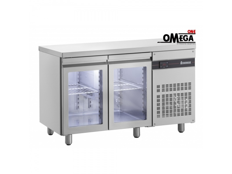 2 Opening Gl Doors Refrigerated Counter Dim 1345x700x870 Mm Ρnn9