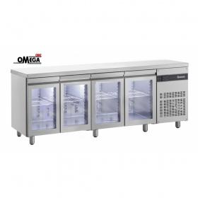 Ψυγεία Πάγκοι Συντήρηση με 4 Γυάλινες Πόρτες Σειρά 600-700