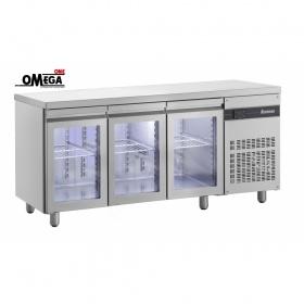 Ψυγείο Πάγκος Συντήρηση με 3 Γυάλινες Πόρτες διαστ.1790x700x870 mm ΡNN99/GL