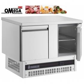 Ψυγείο Πάγκος Συντήρηση με 2 Πόρτες διαστ. 1080x700x860 mm Ψυκτικός Mοτέρ Kάτω