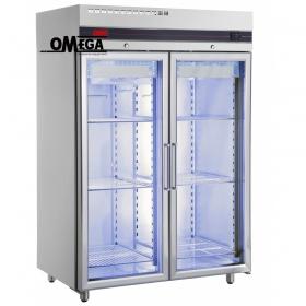 Ψυγείο Θάλαμος Κατάψυξη με 2 Γυάλινες Πόρτες 1432 Ltr διαστ. 1440x905x2100 mm CFS2144/GL