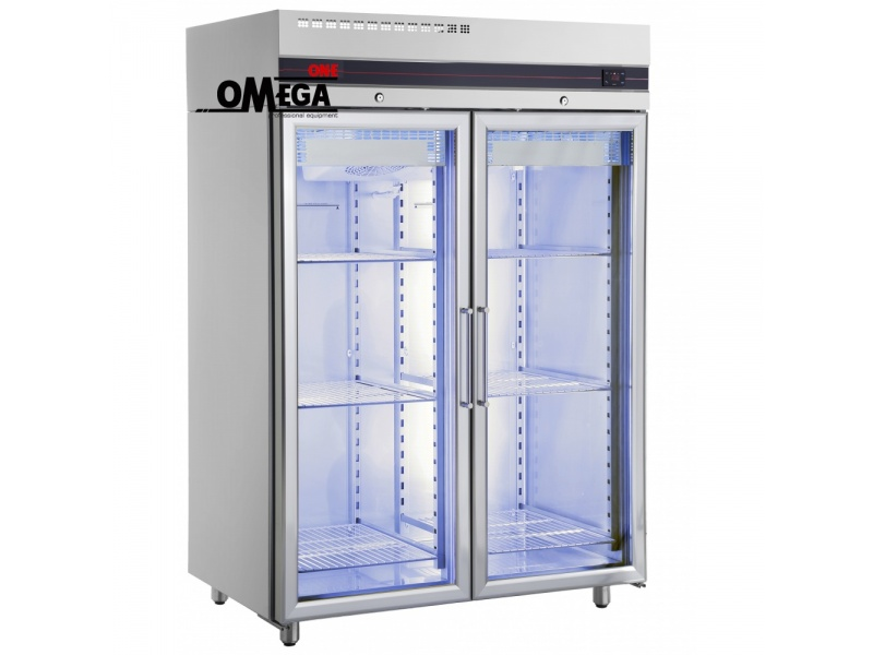 Tiefkühlschrank mit 2 Glastüren 1432 Ltr CFS2140/GL