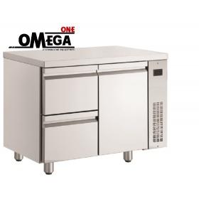 Ψυγείο Πάγκος Χωρίς Μοτέρ με 2 Συρτάρια και 1 Πόρτα διαστ. 1100x700x870 mm NN29/RU
