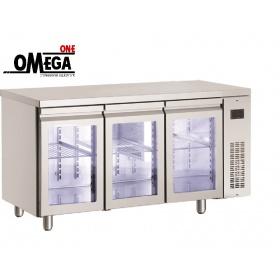 Ψυγείο Πάγκος Χωρίς Μοτέρ με Γυάλινες πόρτες διαστ. 1540x700x870 mm PNN999GL