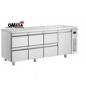 Ψυγείο Πάγκος Χωρίς Μοτέρ με 6 Συρτάρια και 1 Πόρτα διαστ. 1990x700x870 mm NN2229/RU