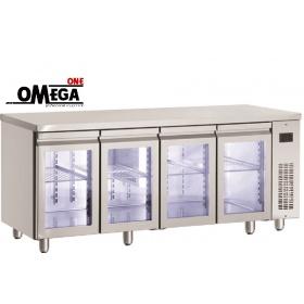 Ψυγεία Πάγκοι Χωρίς Μοτέρ με 4 Γυάλινες Πόρτες Σειρά 600 & 700