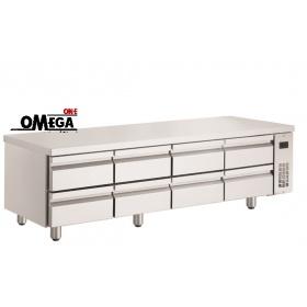 Ψυγείο Πάγκος Χαμηλό σε Ύψος Χωρίς Μοτέρ με 8 Συρτάρια διαστ. 1990x700x620 mm