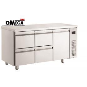 Ψυγείο Πάγκος Χωρίς Μοτέρ με 4 Συρτάρια και 1 Πόρτα διαστ. 1540x700x870 mm NN229/RU