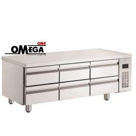 Ψυγείο Πάγκος Χαμηλό σε Ύψος Χωρίς Μοτέρ με 6 Συρτάρια  διαστ. 1540x700x620 mm