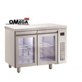 Ψυγείο Πάγκος Χωρίς Μοτέρ με Γυάλινες Πόρτες διαστ. 1100x700x870 mm PNN99GL