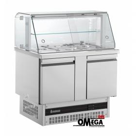 Ψυγείο Σαλατών με Βιτρίνα διαστ. 1080x700x905 mm BSV730