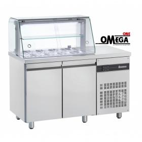 Ψυγείο Σαλατών με Βιτρίνα διαστ. 1360x700x1310 ZQV9