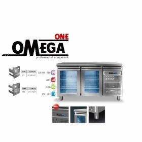 Ψυγείο Πάγκος Συντήρηση με 2 Γυάλινες Πόρτες διαστ. 1450x600x865 mm Σειρά 60