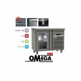 Ψυγείο Πάγκος Συντήρηση με 1 Γυάλινη Πόρτα διαστ. 955x700x865 mm GN 1/1 Σειρά 70