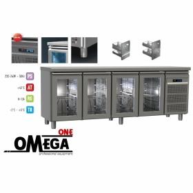 Ψυγείο Πάγκος Συντήρηση με 4 Γυάλινες Πόρτες GN Σειρά 60-70