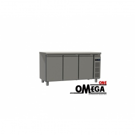 Συντήρηση Ψυγείο Πάγκος με 3 Πόρτες Χωρίς Μηχανή διαστ. 1595x600x865 mm GN 1/2 & 1/3 Σειρά 60