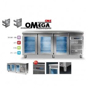 Ψυγείο Πάγκος Συντήρηση με 3 Γυάλινες Πόρτες διαστ. 1975x700x865 mm Σειρά 70