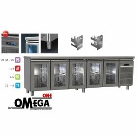 Ψυγείο Πάγκος Συντήρηση με 5 Γυάλινες Πόρτες Σειρά 60-70
