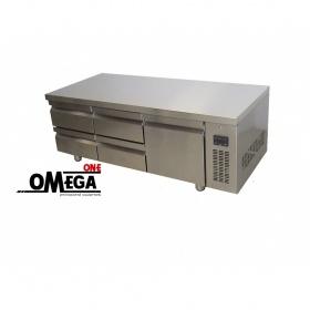 Ψυγείο Πάγκος Χαμηλό Χωρίς Μοτέρ με 4 Συρτάρια και 1 Πόρτα διαστ. 1540x700x630 mm