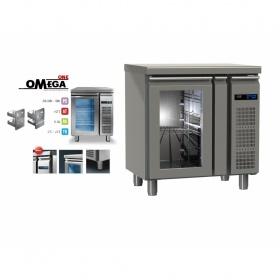 Συντήρηση Ψυγείο Πάγκος με 1 Γυάλινη Πόρτα Χωρίς Μηχανή διαστ. 800x600x865 mm GN ½ & 1/3 Σειρά 60