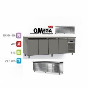 Ψυγείο Πάγκος Κατάψυξη 4 Πόρτες διαστ. 2200x800x865 mm GN1/1